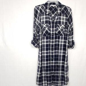 Motherhood Maternity Plaid Shirt Dress Size L